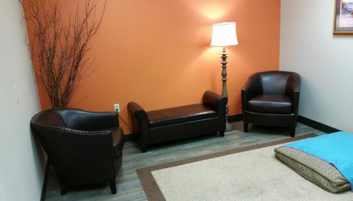 Our comfort room for clients going through a pet euthanasia.