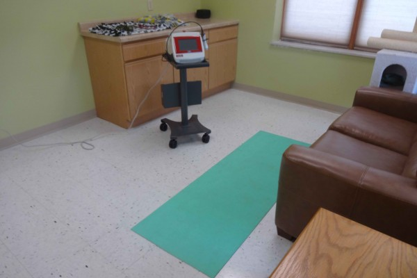 Laser therapy room