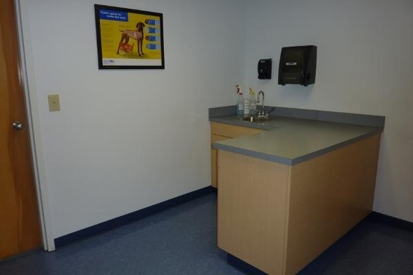 When it is your turn, a technician will call you and your pet(s) into one of our four exam rooms.
